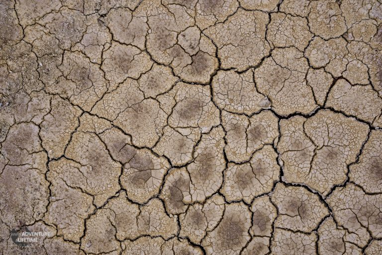 Cracked Earth of Salt Flats