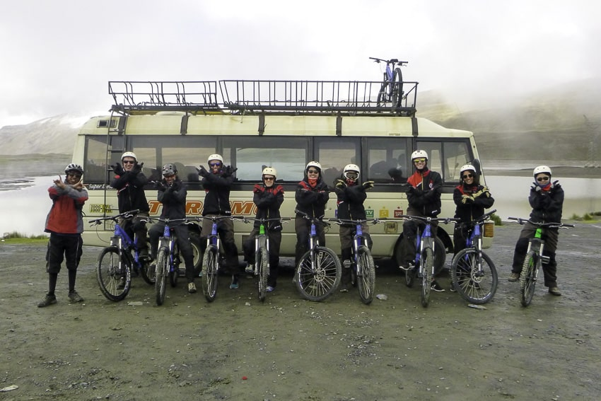 Death Road Team at the Start
