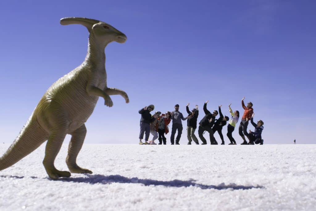 Dinosaur Attack on the Bolivian Salt Flats