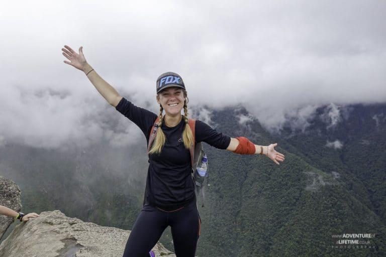 Dora up Huayna Picchu