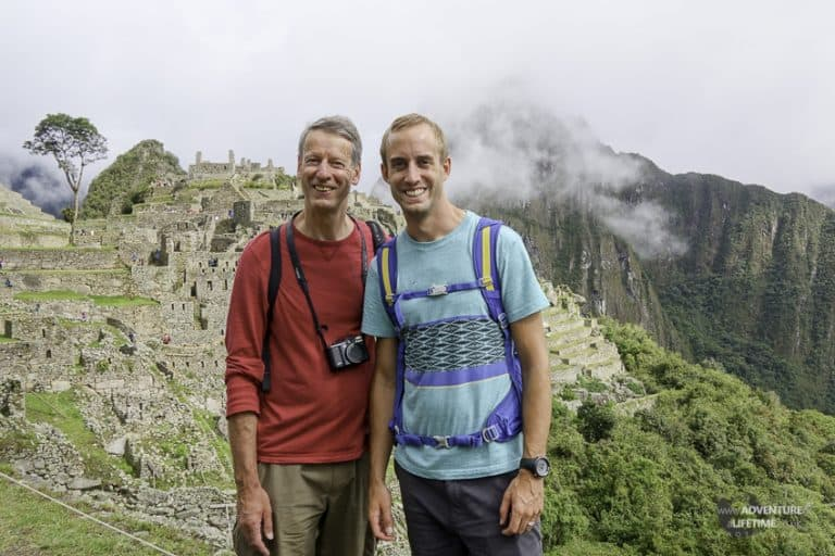 Father & Son at Machu Picchu