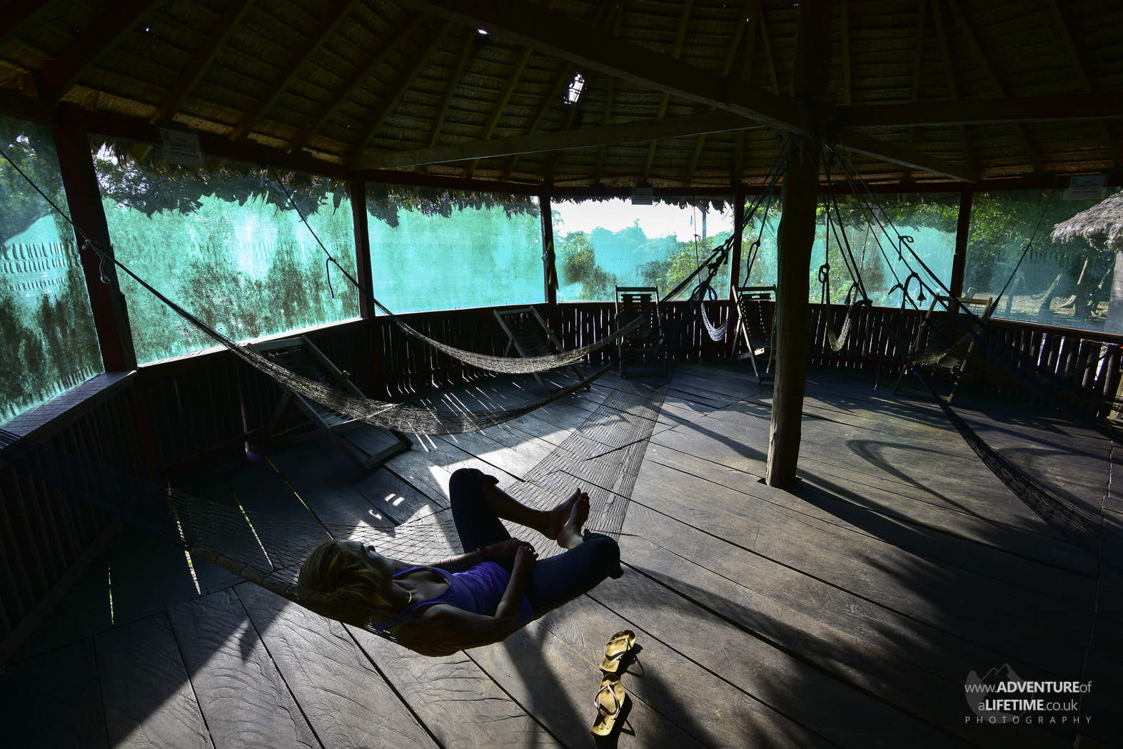 Hammocks in the Rainforest Lodge
