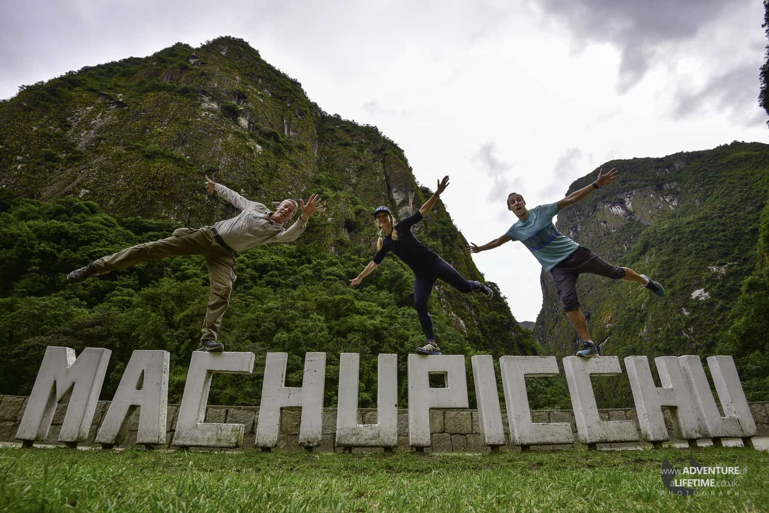 Michael, Dora & Malcolm Aldridge at Machu Picchu