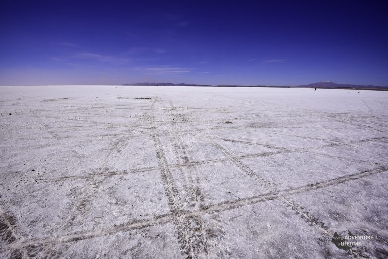 Salt Flats Tire Tracks