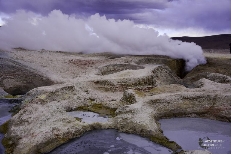 Steaming Geysers in Bolivia