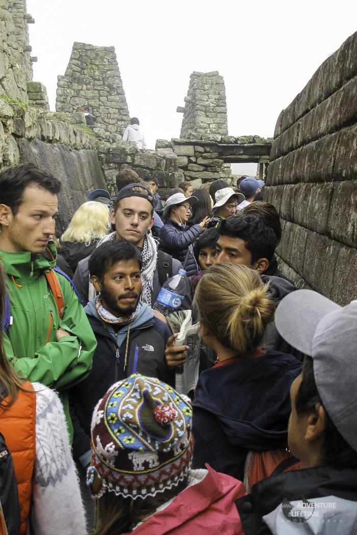 Tourist Crowds at Machu Picchu