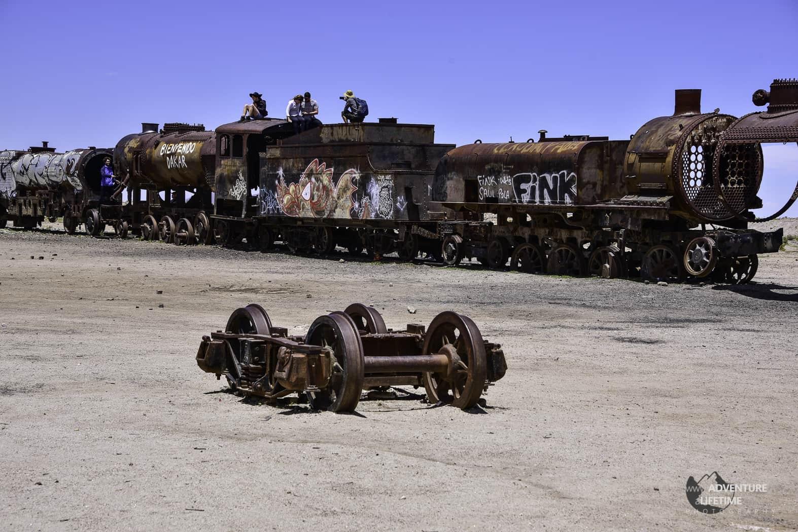 Train Graveyard in Uyuni, Bolivia