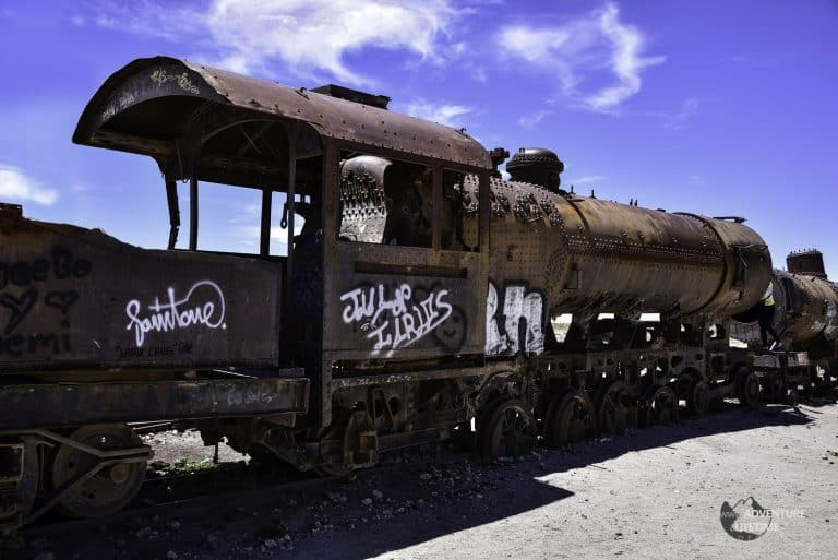 Train Scrapyard in Uyuni, Bolivia