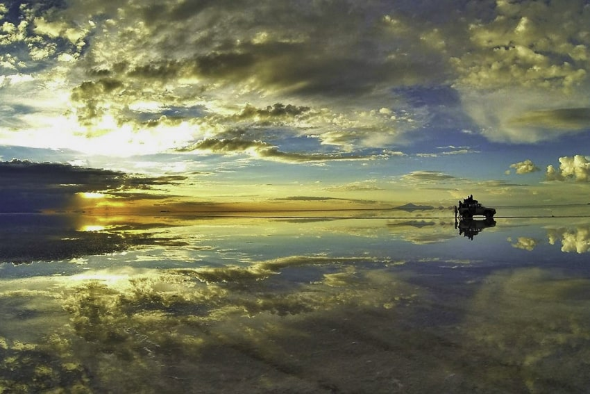 Salt Flats Sunset Reflections