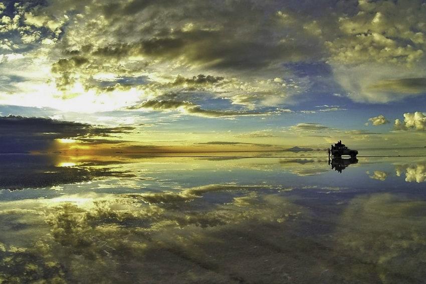 Salt Flats Sunset Reflections