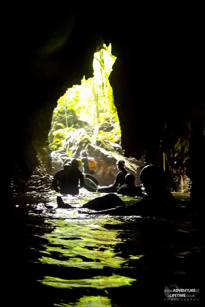 Daylight at the end of Waitomo Caves
