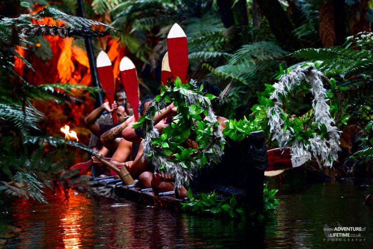 Mitai Maori Village Canoe