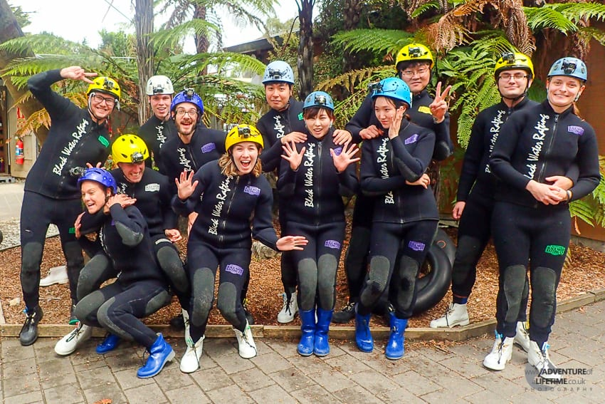 Waitomo Black Water Rafting Group
