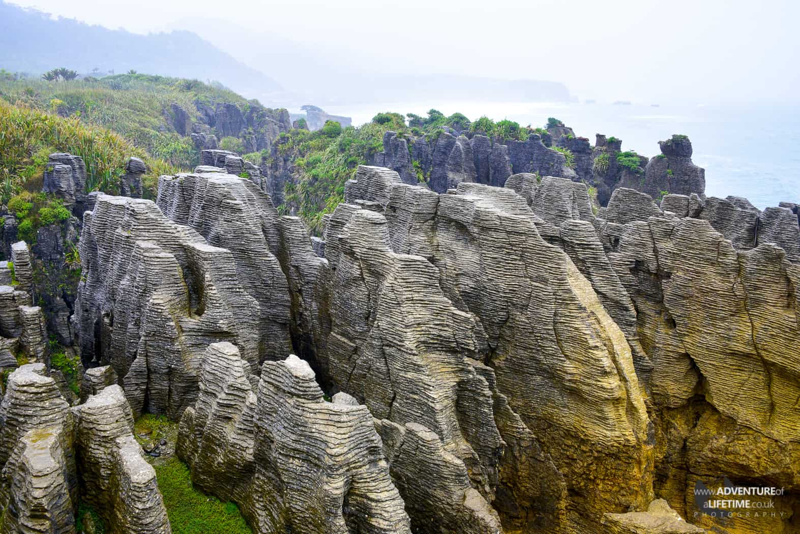 Pancake Rocks in Greymouth, NZ