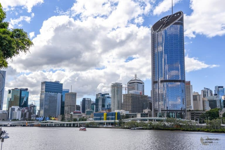 Brisbane CBD and river