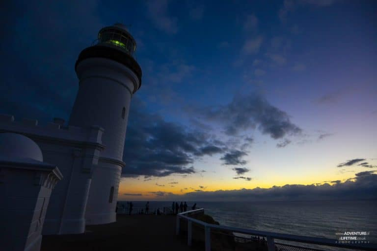 Byron Lighthouse with Purple Skies