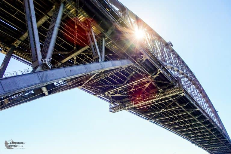 Detail of Sydney's Harbour Bridge