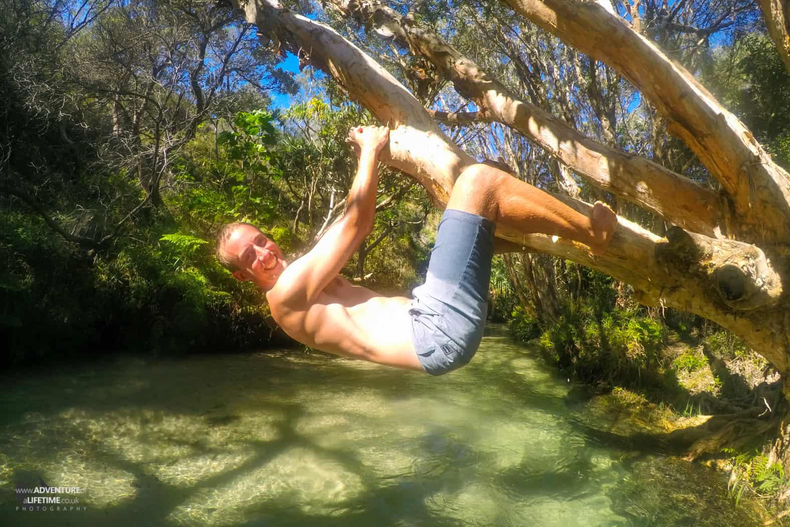 Hanging around in Eli Creek