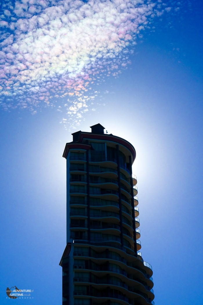 Iridescent sky at Surfers Paradise
