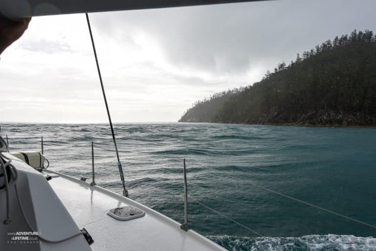 It rained on the Whitsundays!