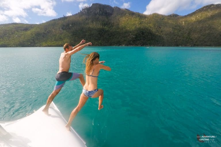 Jumping off On Ice, Whitsundays