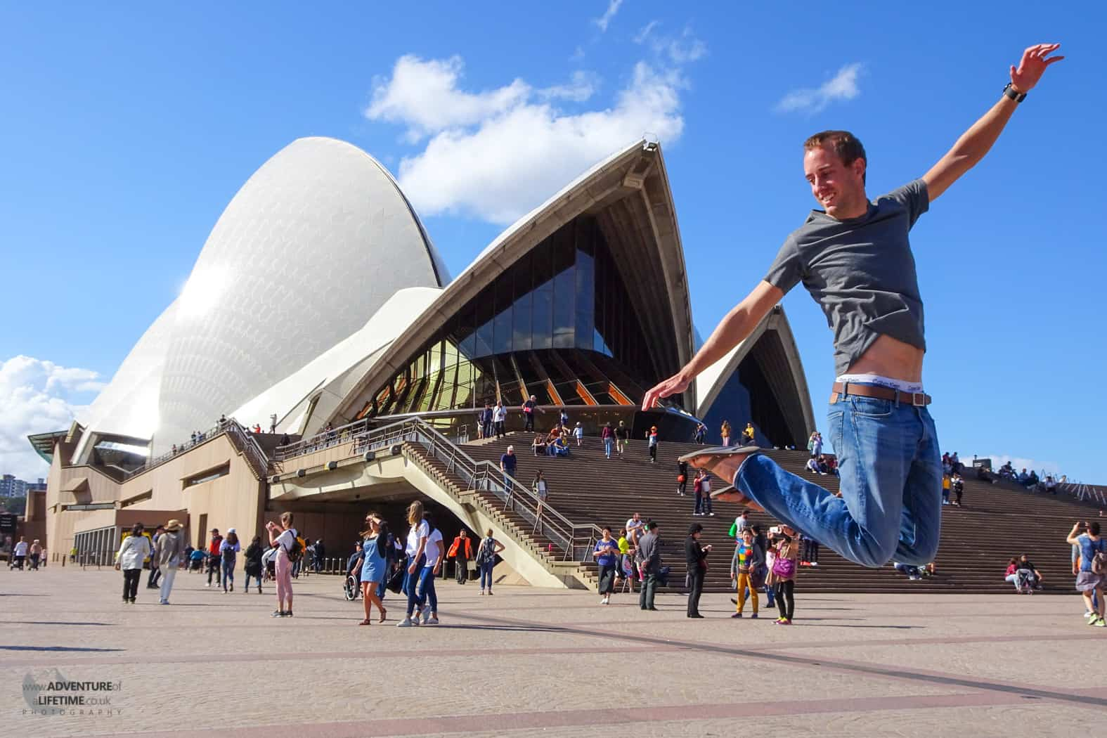 Jumping infront of the Sydney Opera House