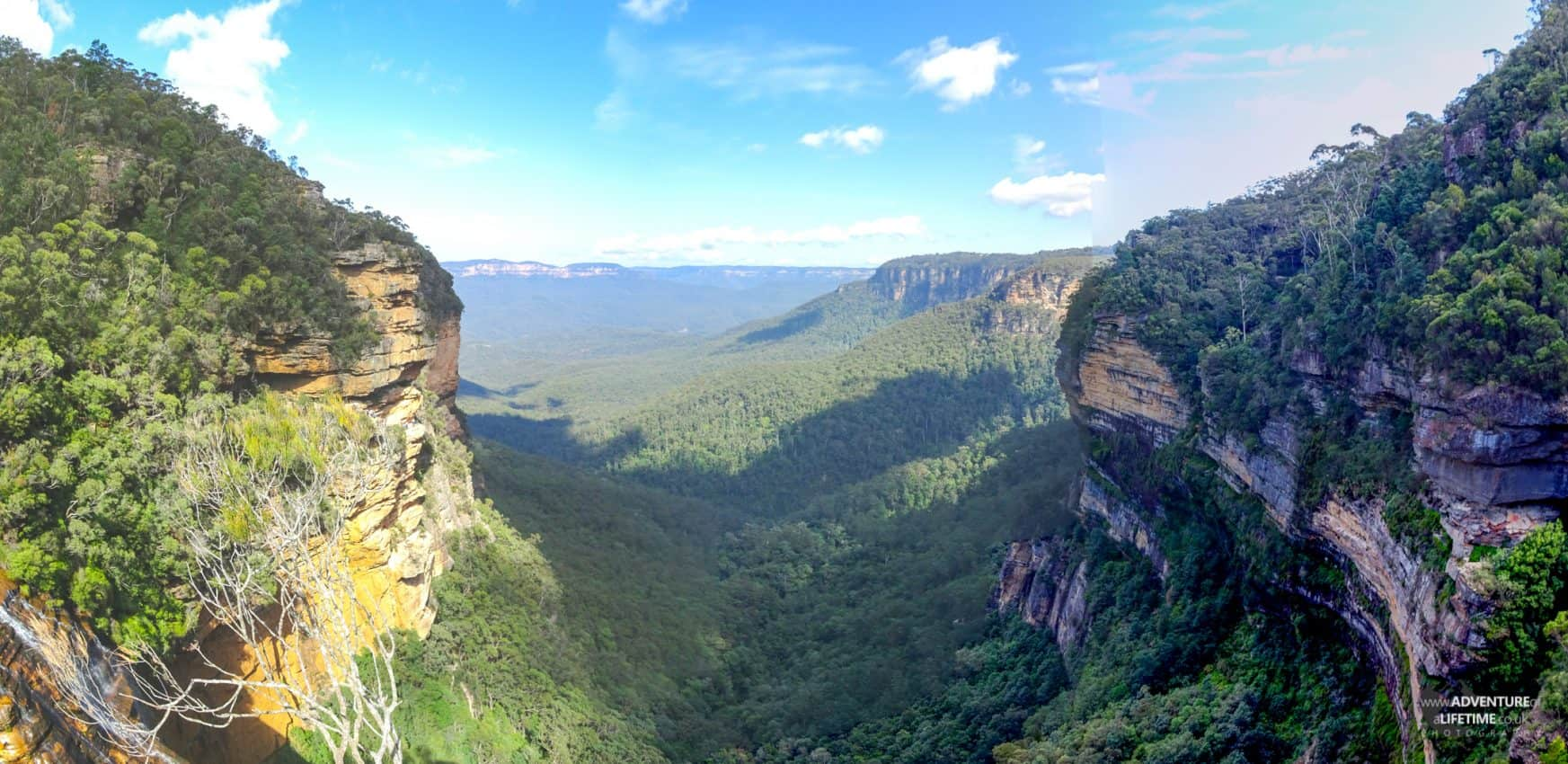 Panoramic View of Sydney's Blue Mountains
