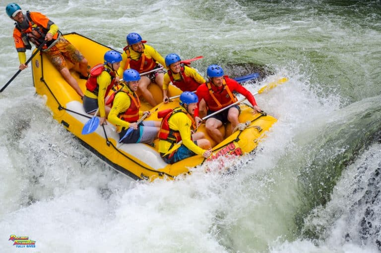 Rafting the Tully River