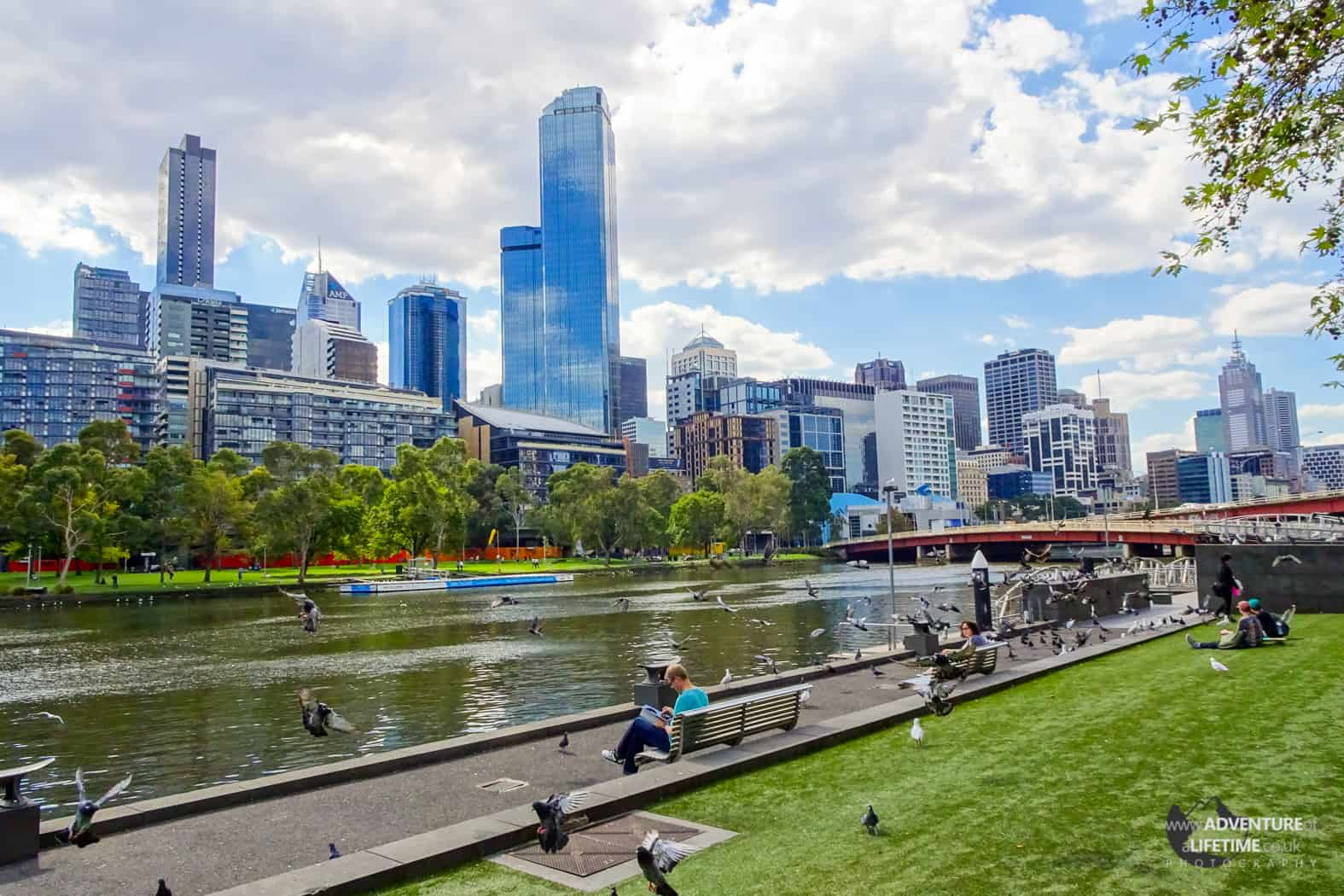 View of the River and Downtown Melbourne
