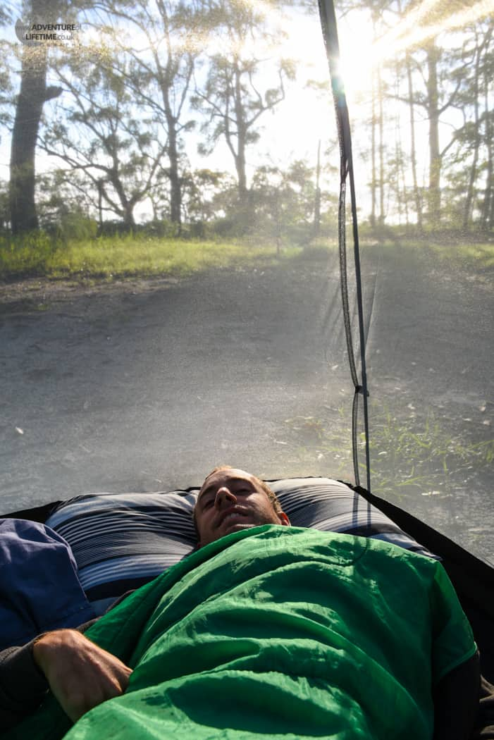 Waking up on Fraser Island
