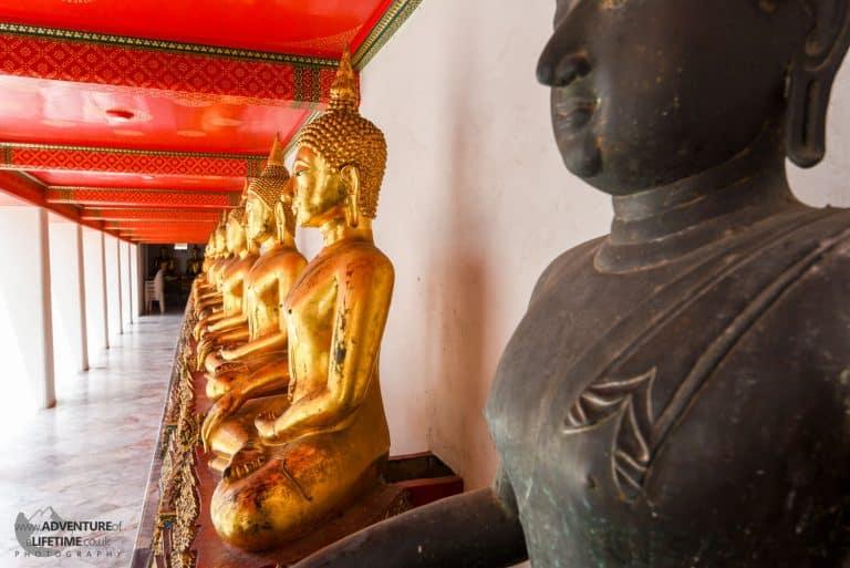 A wall of Buddha The Grand Palace