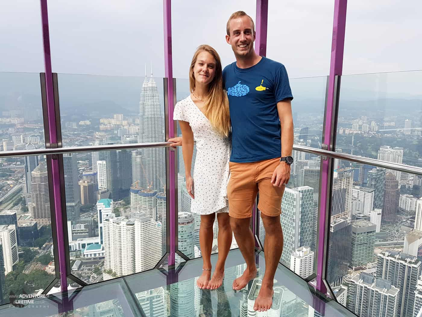 Dora and Michael at the top of the KL Tower