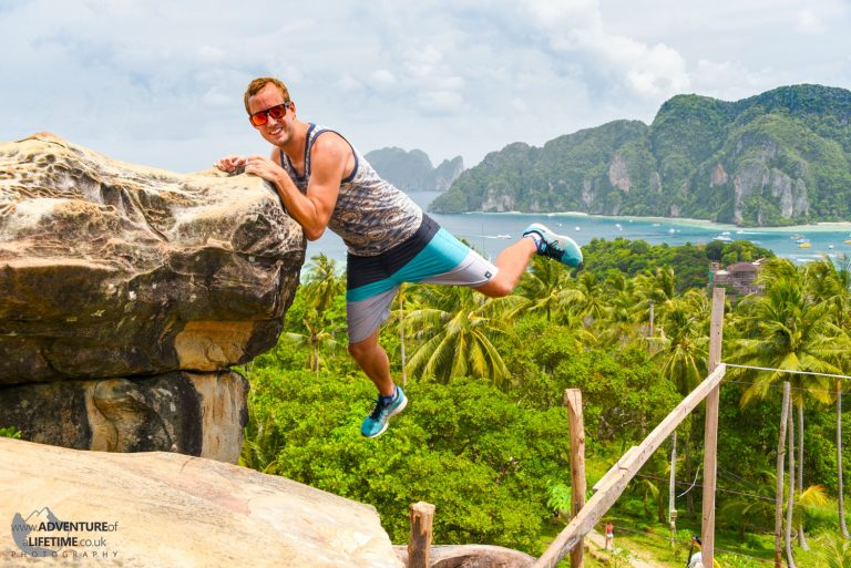 Hanging Over the Edge Koh Phi Phi