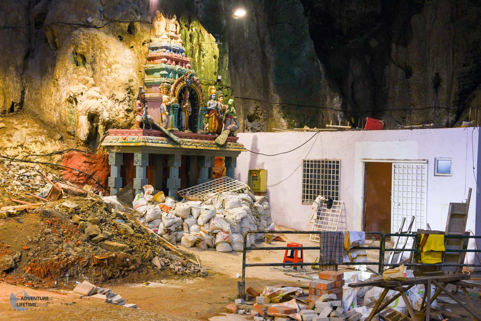 Not what I expected inside the Batu Caves!