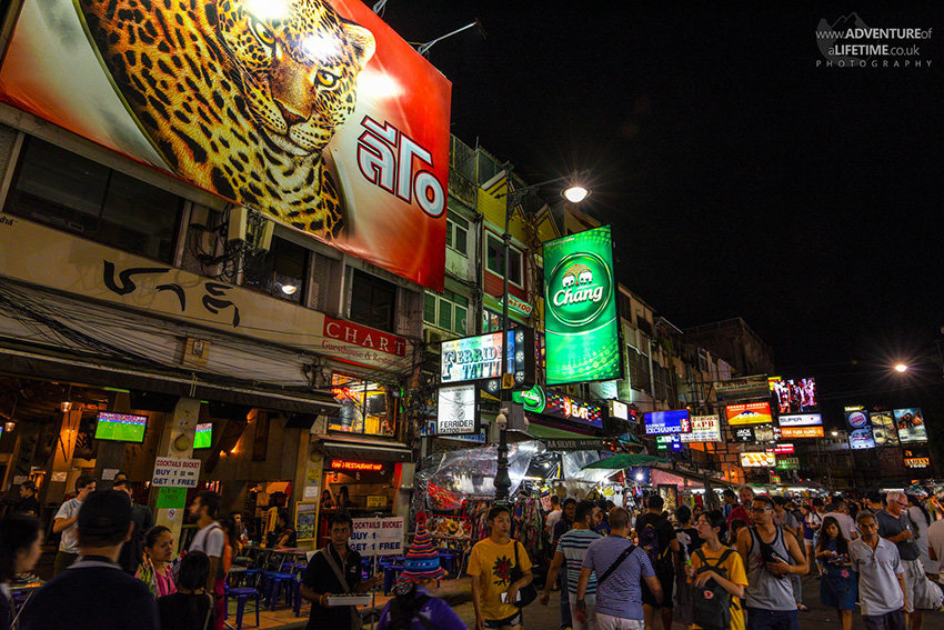 The nightlife on Khao San Road
