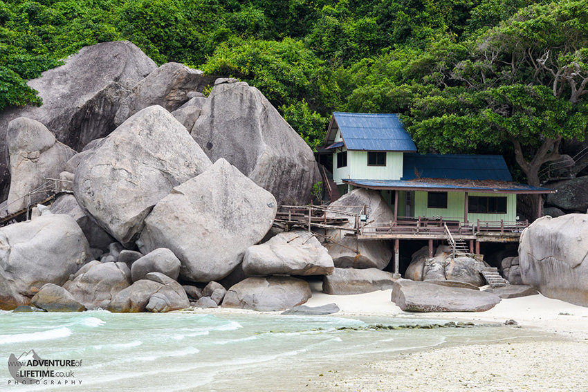 A lonely hut on Koh Pha Ngan