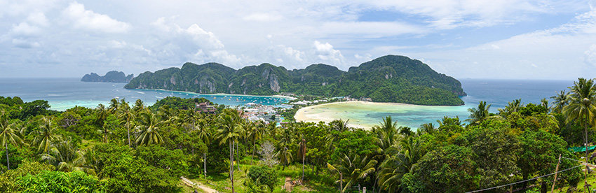 Panoramic of Koh Phi Phi, Thailand