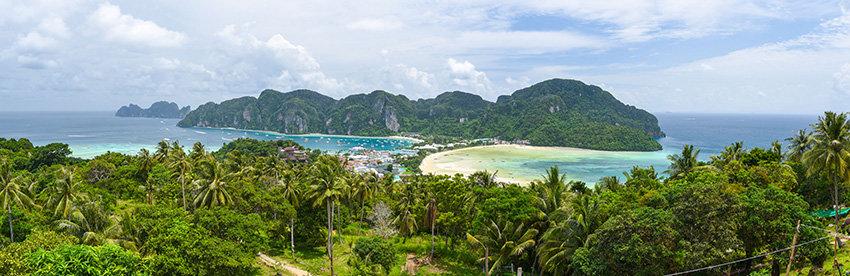 Panoramic of Koh Phi Phi, Thailand