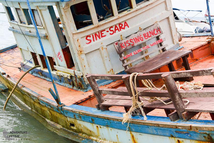 Lonely Boat at Koh Pha Ngan