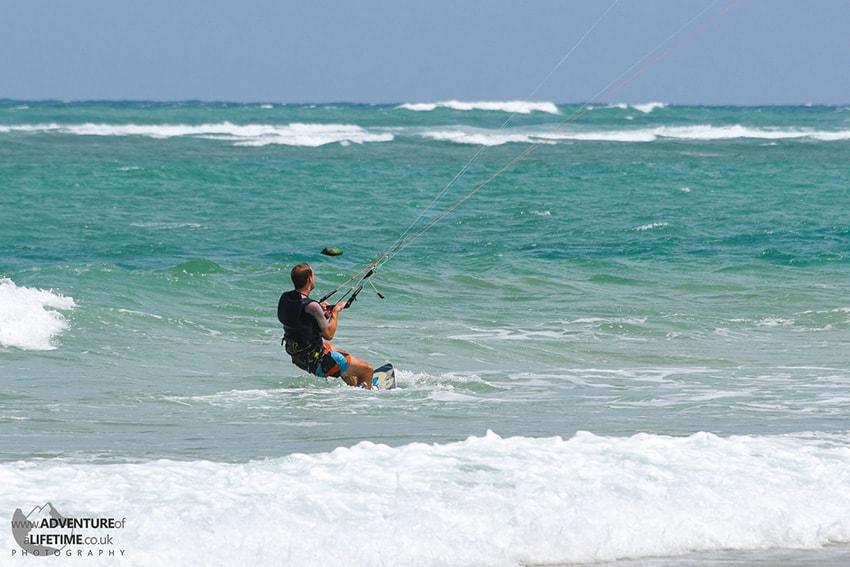 Michael Kite Surfing Nai Yang Beach