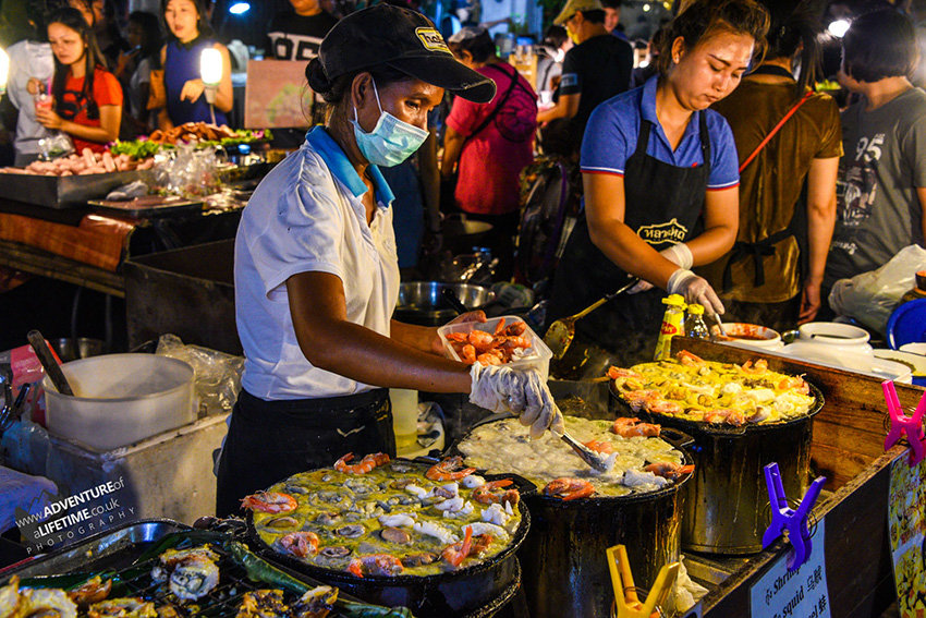 Night Food Market in Phuket City, Thailand
