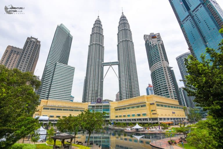 View up to the Petronas Towers in KL