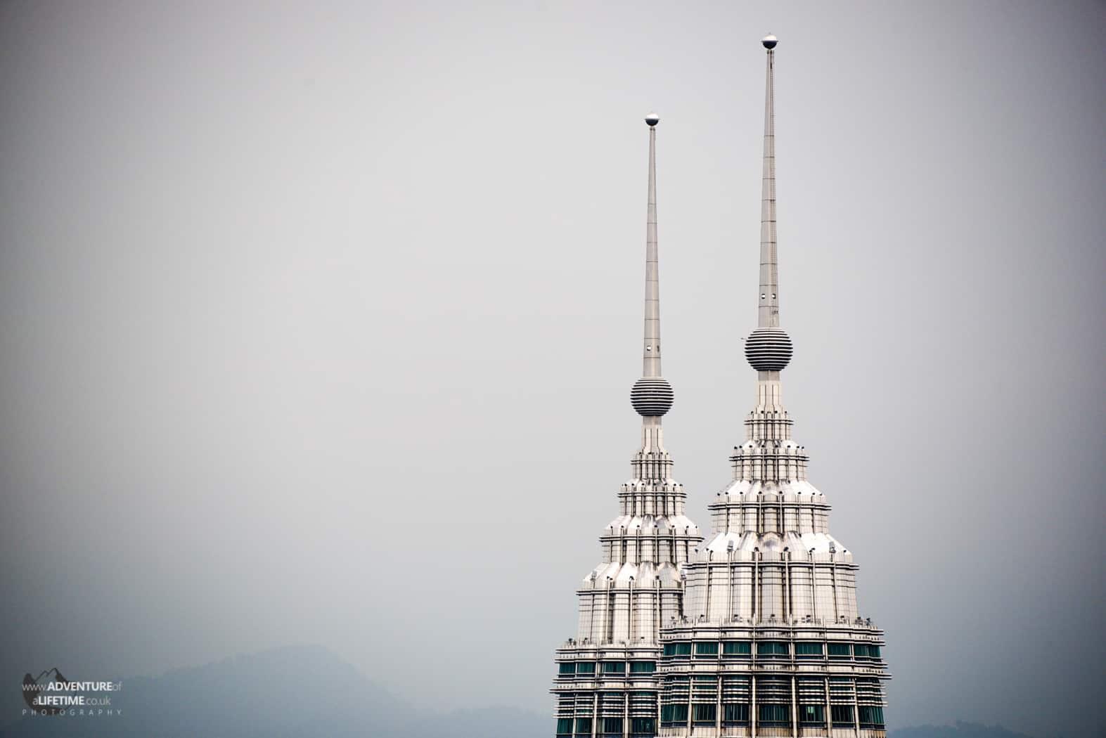 Top of the Petronas Towers in Kuala Lumpur