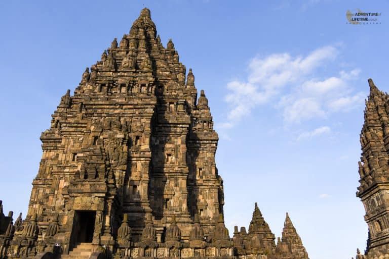 Beautiful Sunlight at Prambanan temple, Java