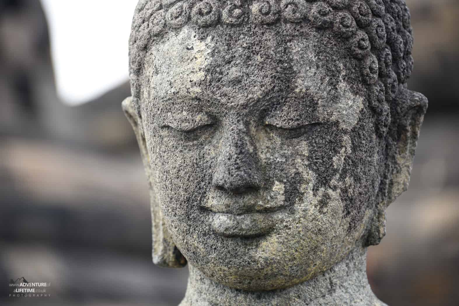 Buddha head, Borobudur temple, Java