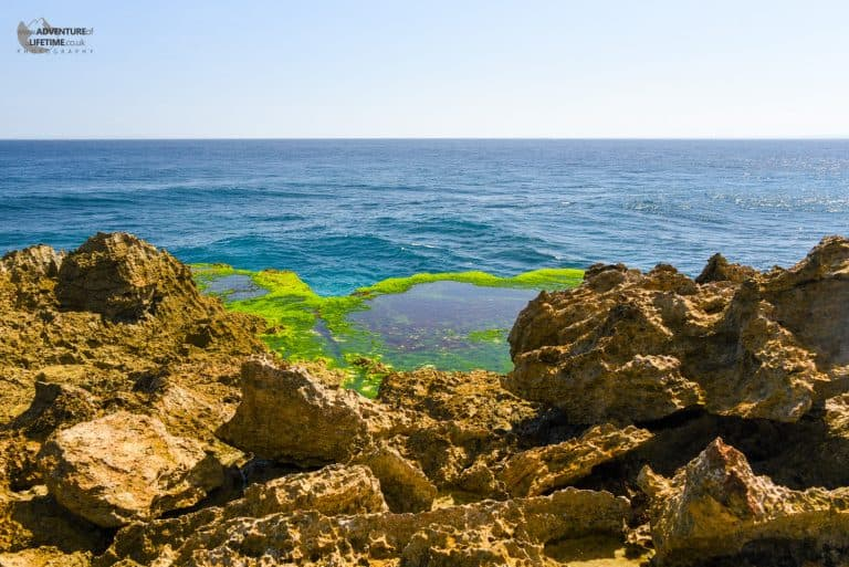 Placid waters of Devils Tears Nusa Lembongan Bali