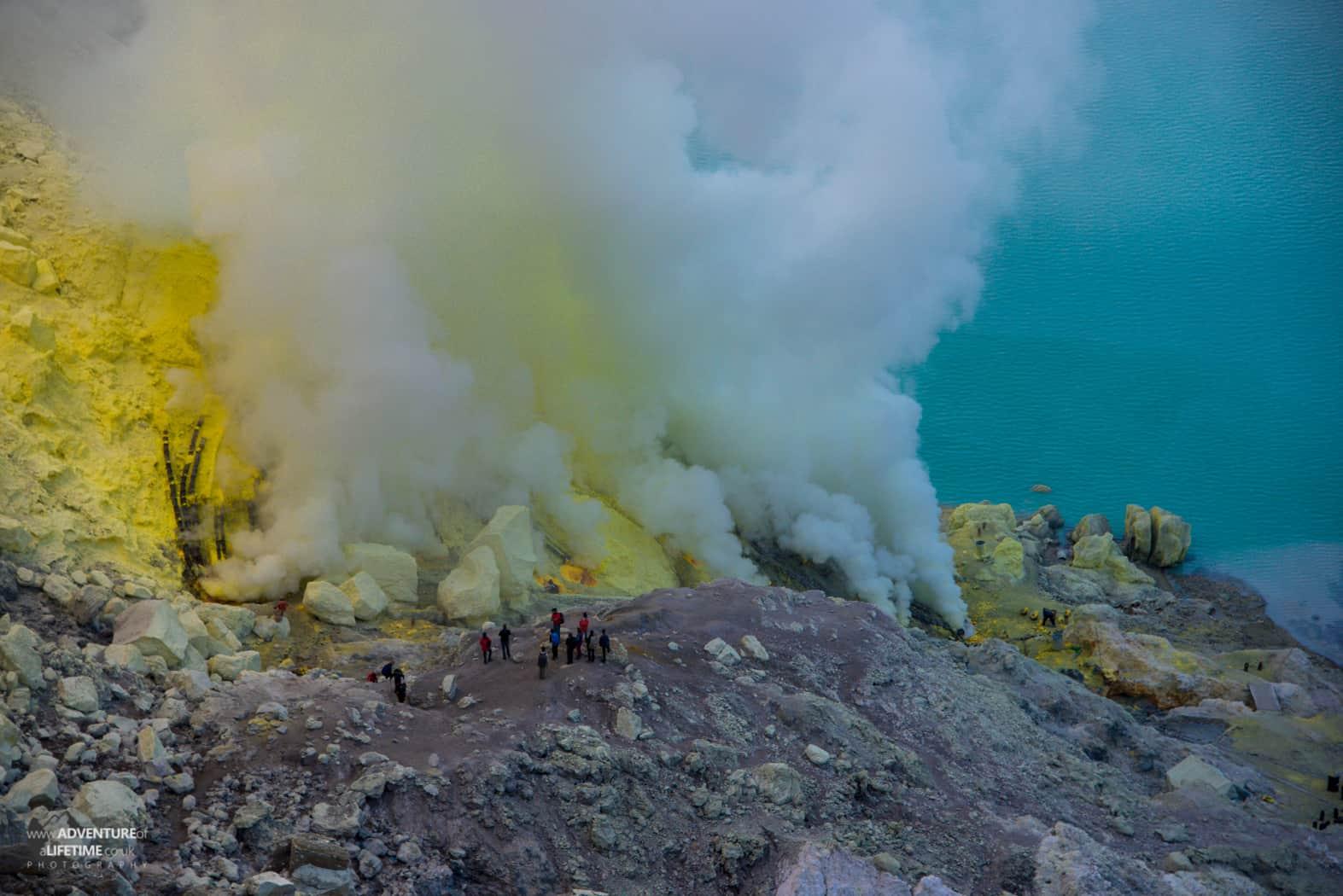 Ijen Volcano Sulphur Mine, Java