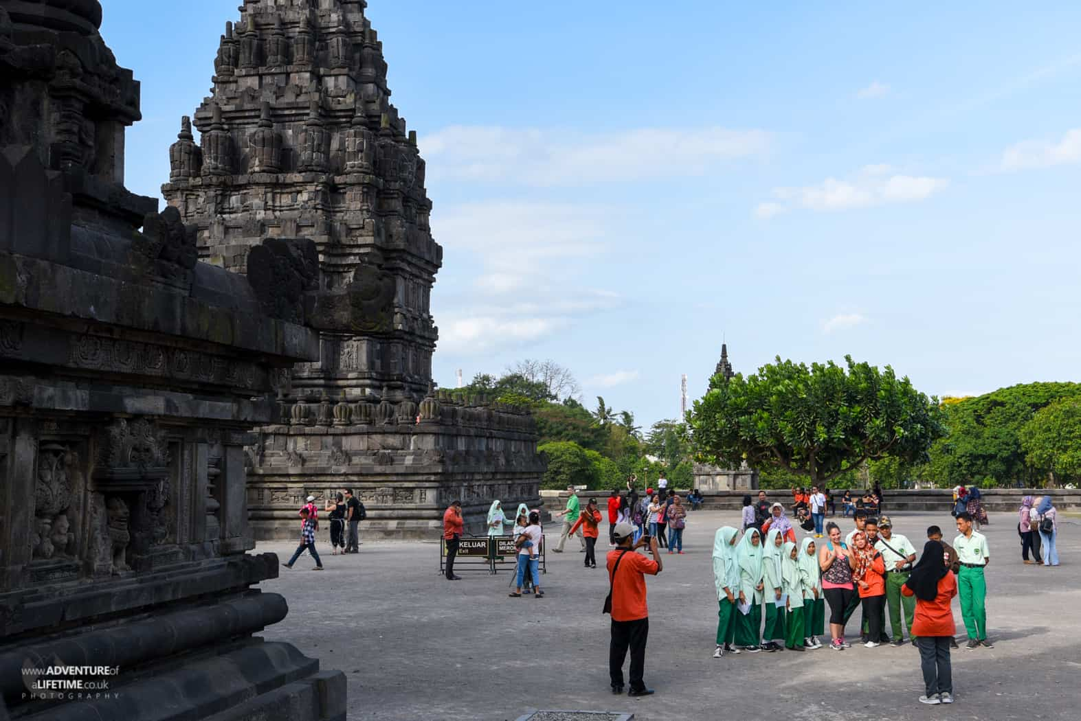 Nichole is the main attraction at Prambanan temple, Java