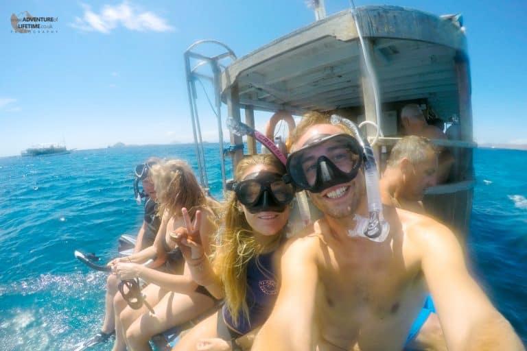 Snorkelling in the waters off Flores, Indonesia