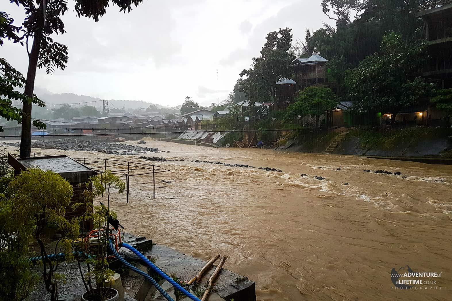 Bahorok river in Sumatra flooding